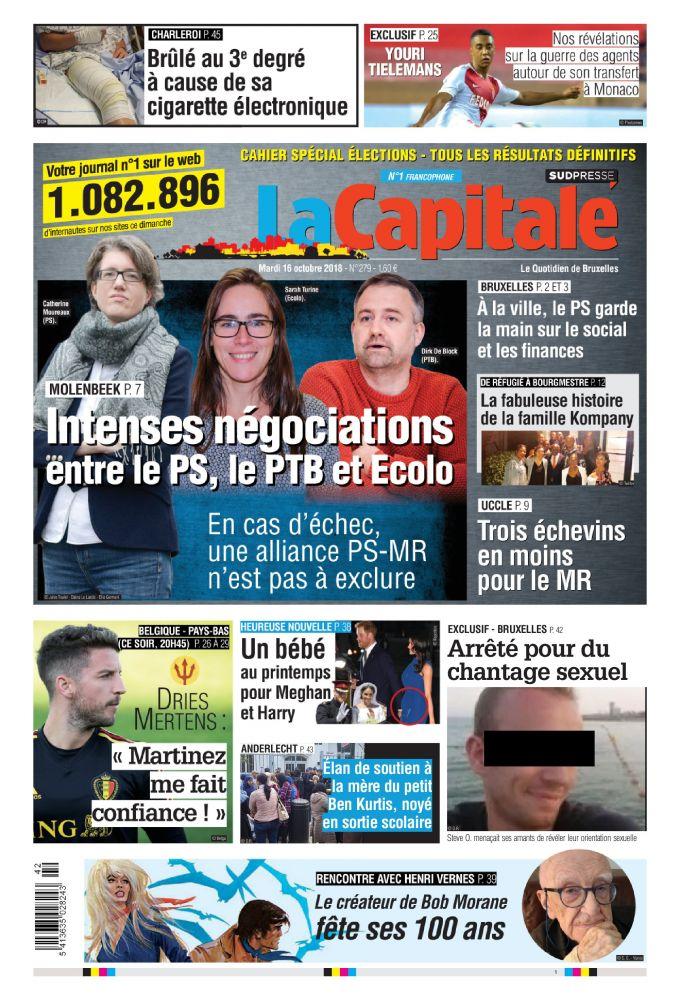 [Exclu Ultima Download] Les journaux Sudpresse Du 16 octobre 2018 (Belgique) (toutes éditions)
